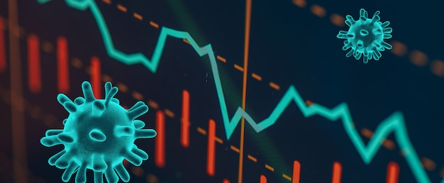 Wereldcrash op de aandelenmarkten na de crisis van de covid-19-pandemie