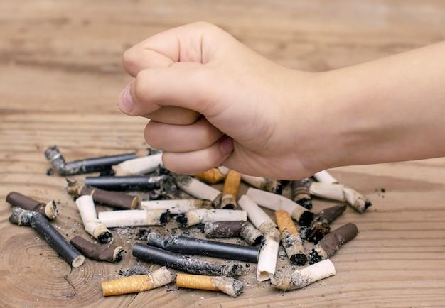 Werelddag geen rookdag, niet roken, geen sigaretten, bijsluiter