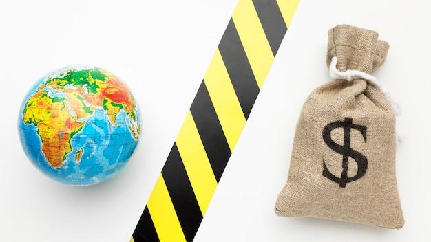 Wereldeconomie en financiële marktconcept