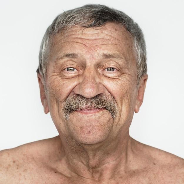 Wereldgezicht-amerikaanse man op een witte achtergrond