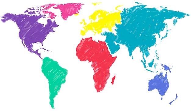 Wereldkaart wereldwijd internationaal globaliseringsconcept