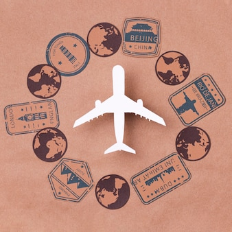 Wereldtoerisme dag met vliegtuig