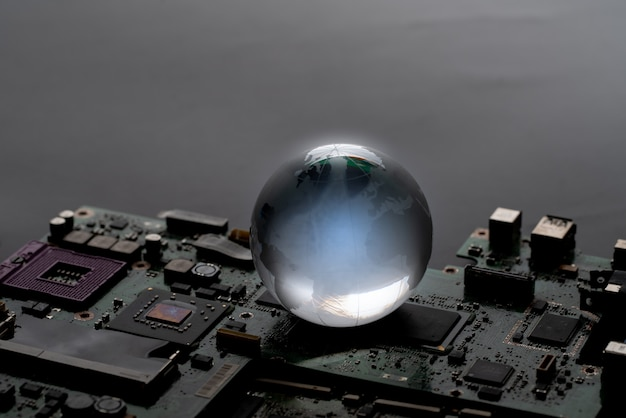 Wereldwijd netwerk voor technologieconcept