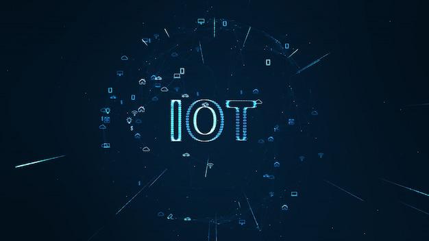 Wereldwijd netwerkconcept. iot (internet of things).