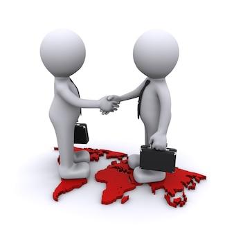 Wereldwijd partnerschapconcept