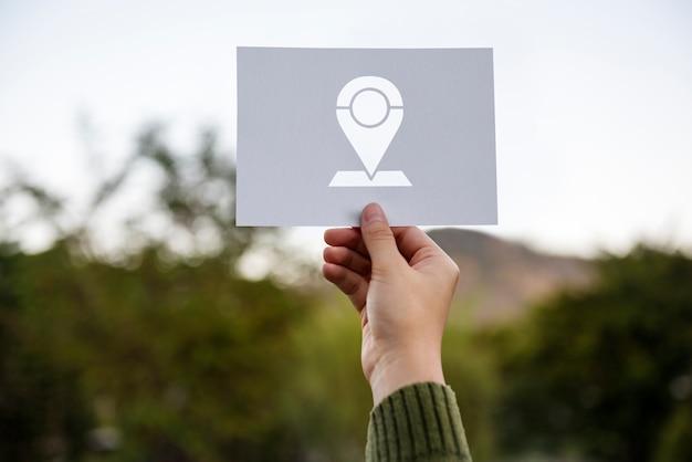 Wereldwijd positiesysteem navigatierichting