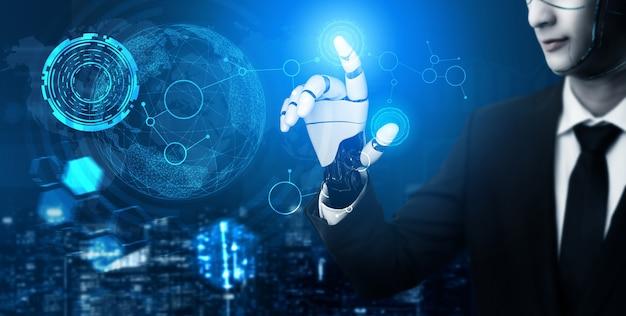 Wereldwijd robotachtig bionisch wetenschappelijk onderzoek voor de toekomst van het menselijk leven.