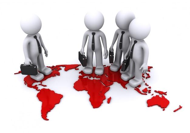 Wereldwijd teamconcept