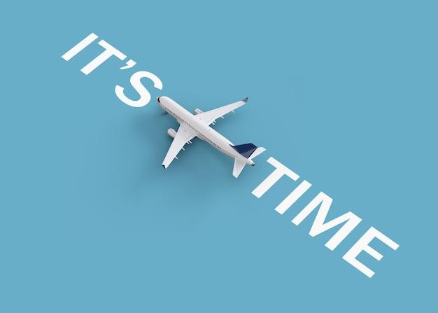 Wereldwijd vluchten en leveringsconcept. met het vliegtuig de wereld rondreizen. ongewone 3d illustratie