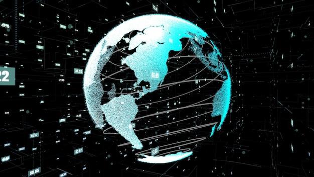 Wereldwijde data science-technologie en computerprogrammering abstract