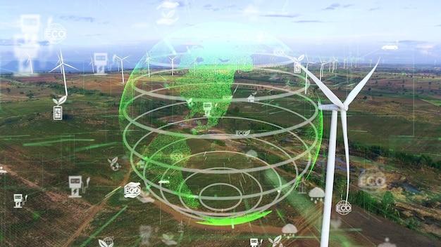 Wereldwijde duurzaamheidsontwikkeling en esg-concept