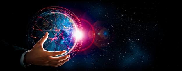 Wereldwijde netwerkverbinding over aarde