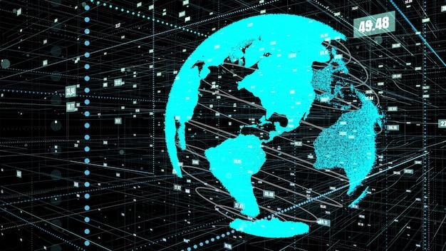 Wereldwijde online internetverbinding