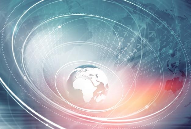 Wereldwijde verbindingsachtergrond