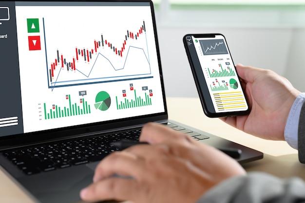 Werk hard data analytics statistieken informatie bedrijfstechnologie