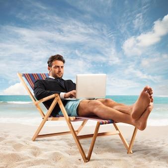 Werk op vakantie