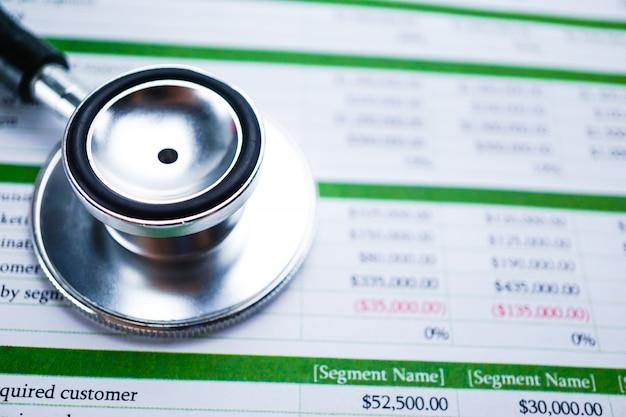 Werkbladtabel financieel ontwikkeling, account, statistiek investering analytische resea