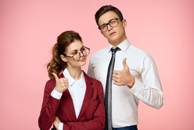 Werkcollega's zaken man en vrouw office management team ambtenaren mooie mensen