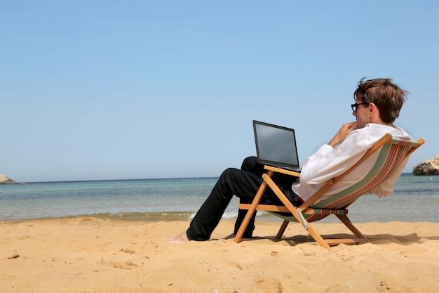Werken aan een vakantie