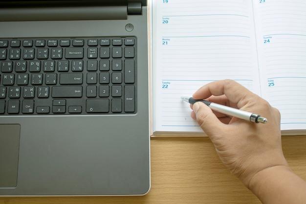 Werken met de laptop en het organiseren