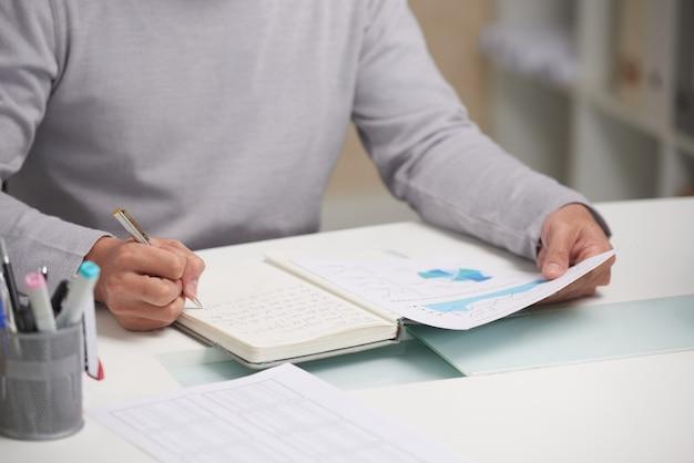Werken met financieel rapport