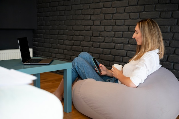 Werken vanuit huis time management concept