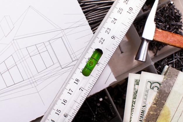 Werkinstrumenten en huisontwerp