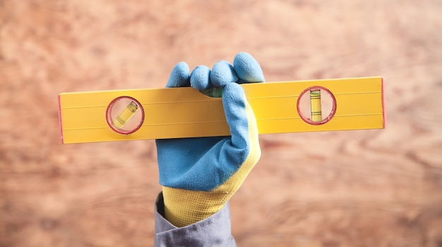 Werknemer bedrijfsniveau. bouw tool