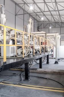 Werkplaats en uitrusting voor de productie en fabricage van duurzaam polyethyleen en polypropyleen