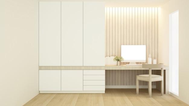Werkplek en kledingkast in condominium