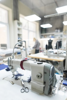 Werkplek voor naaisters.