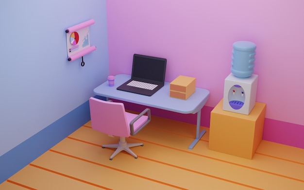Werkruimte 3d-rendering
