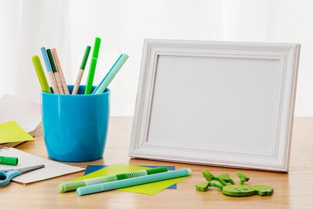 Werkruimte-indeling met frame