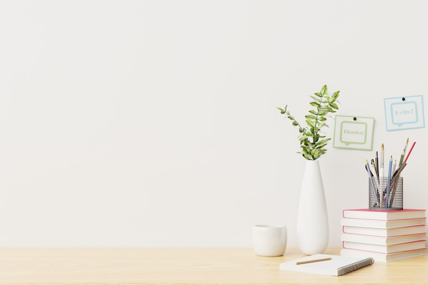 Werkruimte kantoor tafel en werkruimte concept.