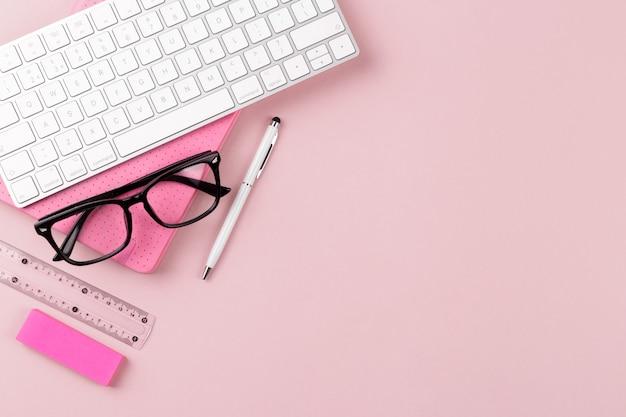 Werkruimte van student of freelancer