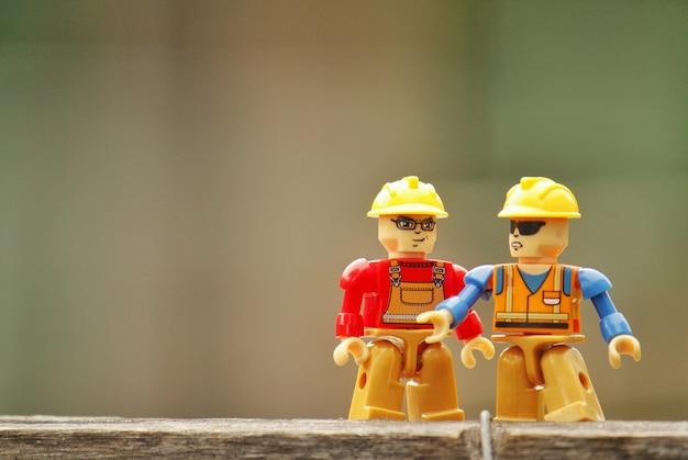 Werkzaamheden in lego van dioramas