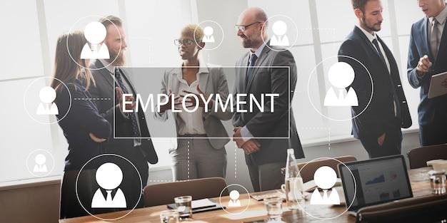 Werving huren carrière baan emplyment concept