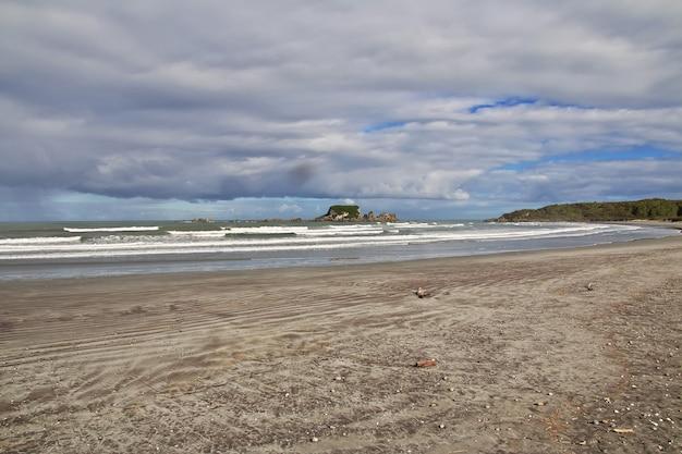 Westkust van het zuidereiland in nieuw-zeeland