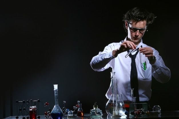 Wetenschappelijk chemisch experiment