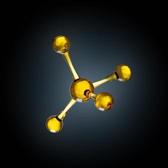 Wetenschapsachtergrond met moleculen en atomen