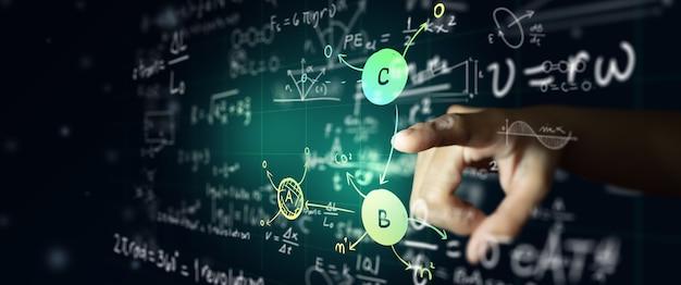 Wetenschapsformule en wiskundige vergelijking wiskunde- of scheikundeonderwijs kunstmatige intelligentie