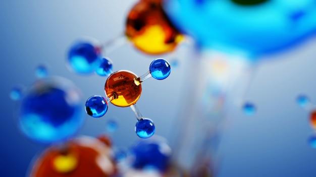 Wetenschapssamenstelling met moleculen en atomen