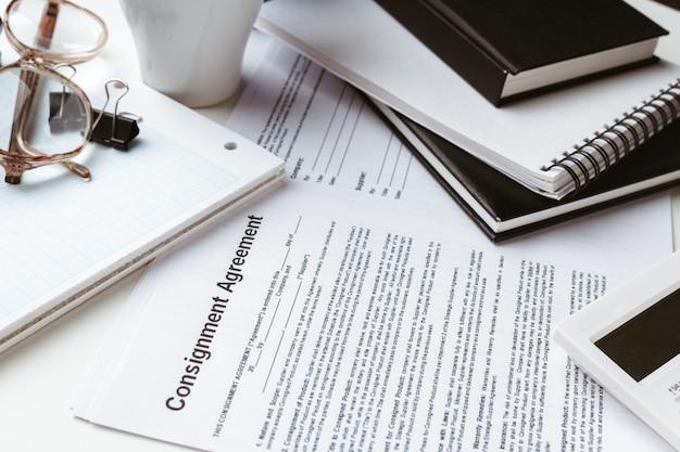 Wettelijke contract ondertekening - koop verkoop onroerend goed contract
