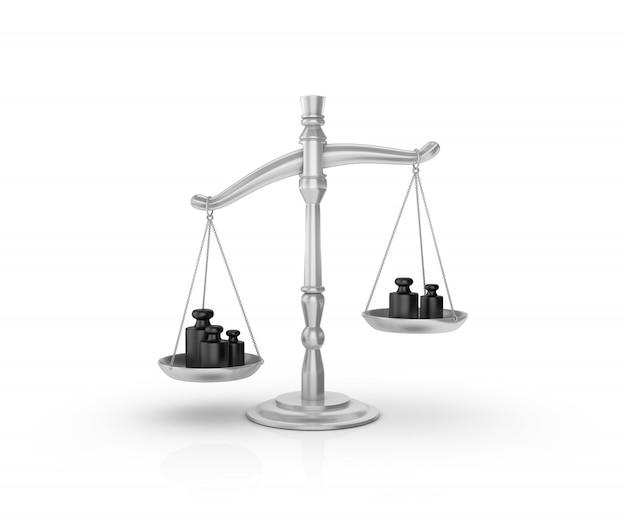 Wettelijke weegschaal met gewichten