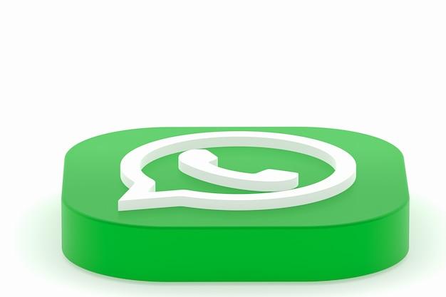 Whatsapp applicatie groen logo pictogram 3d render