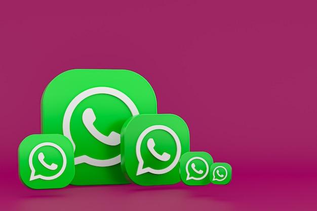 Whatsapp logo 3d pictogram weergave achtergrond rendering