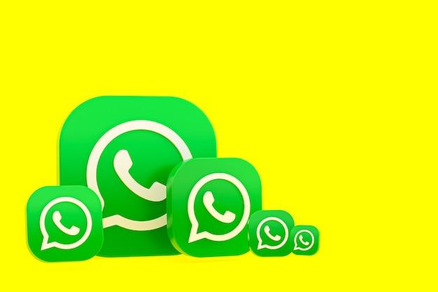 Whatsapp logo 3d pictogram weergave achtergrond