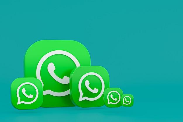 Whatsapp logo 3d rendering pictogramachtergrond