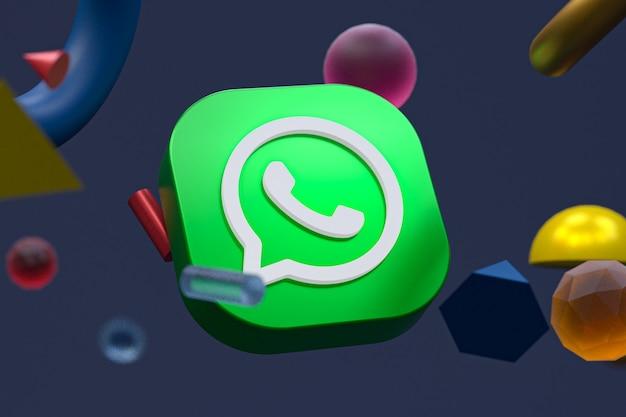 Whatsapp-logo op abstracte geometrie