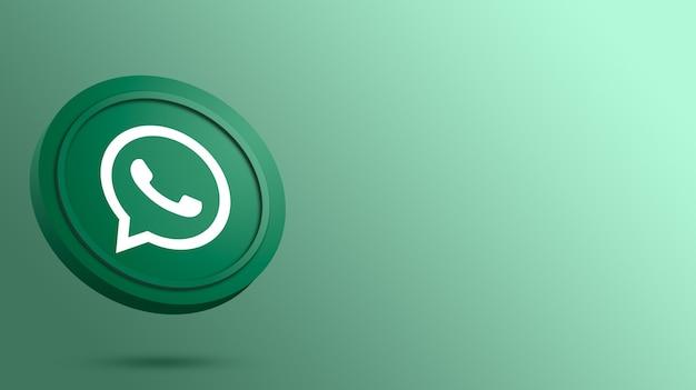 Whatsapp-logo op de weergave van de ronde knop